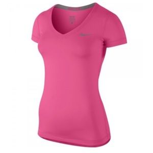 Nike Pro Combat Dri Fit V Neck Short Sleeve Top S